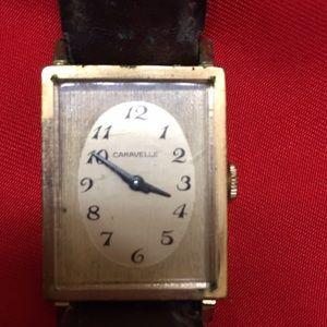 Caravelle vintage gold watch